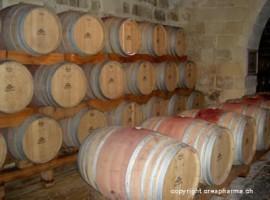 Amora-preta e vinho branco