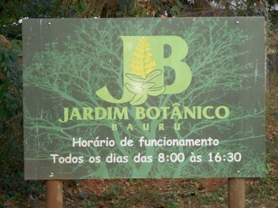 Site do Jardim Botânico de Bauru